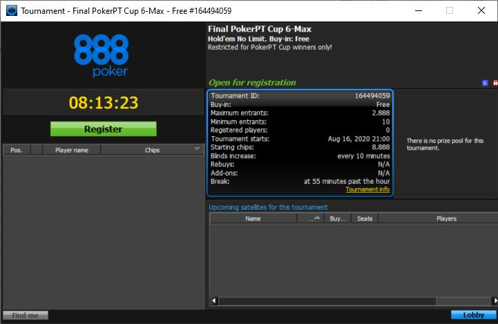 final PokerPT 6Max Cup