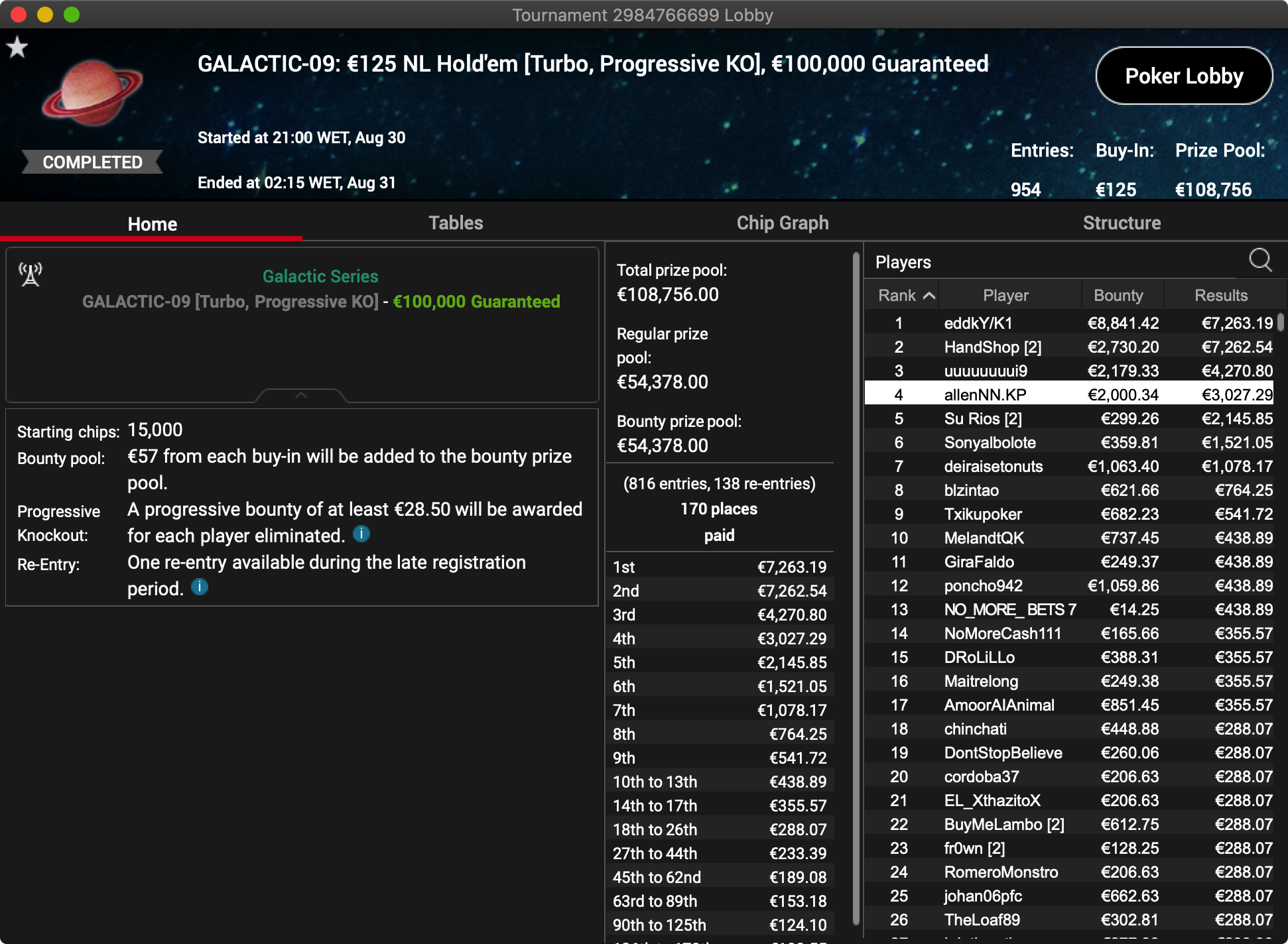 PokerStars Galactic Series - Evento #9
