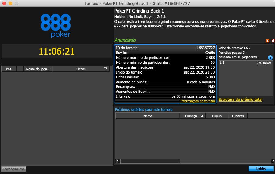 888poker PokerPT Grinding Back 1