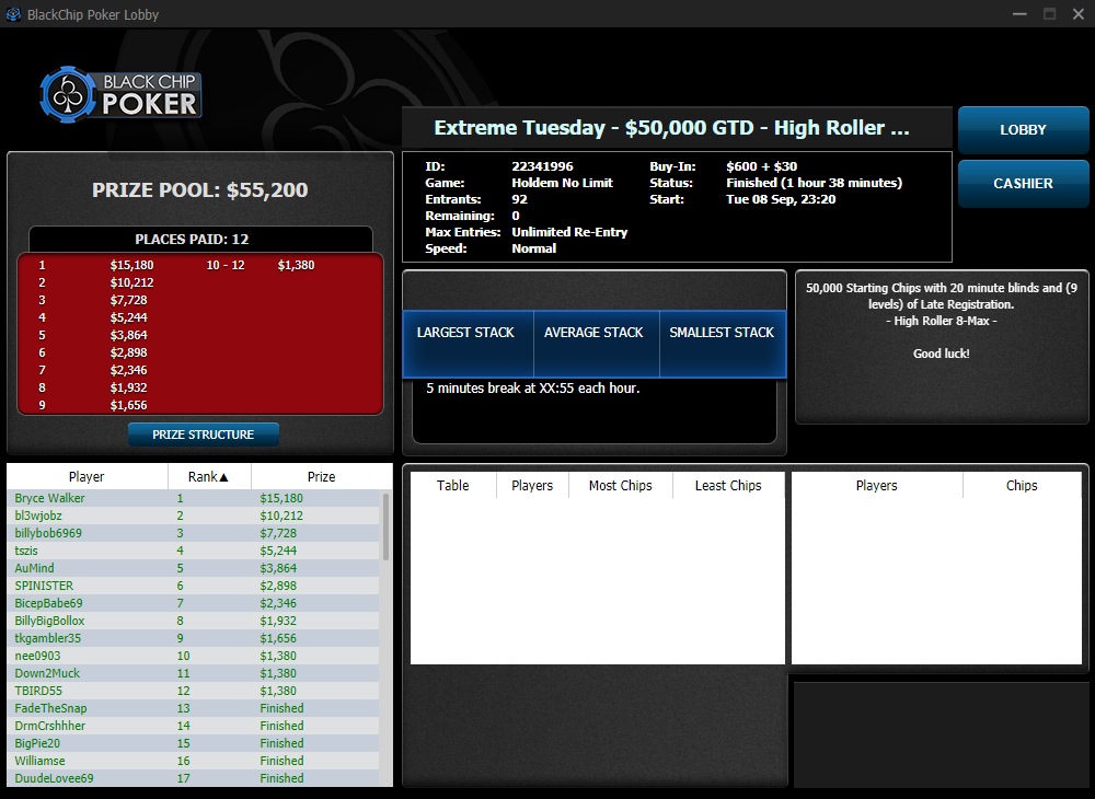 Extreme Tuesday - $50000 GTD High Roller