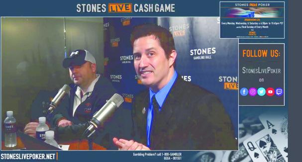 Justin Kuraitis e Mike Postle no Stones Live Poker