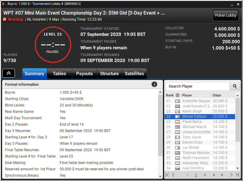 WPT #07 Mini Main Event Championship