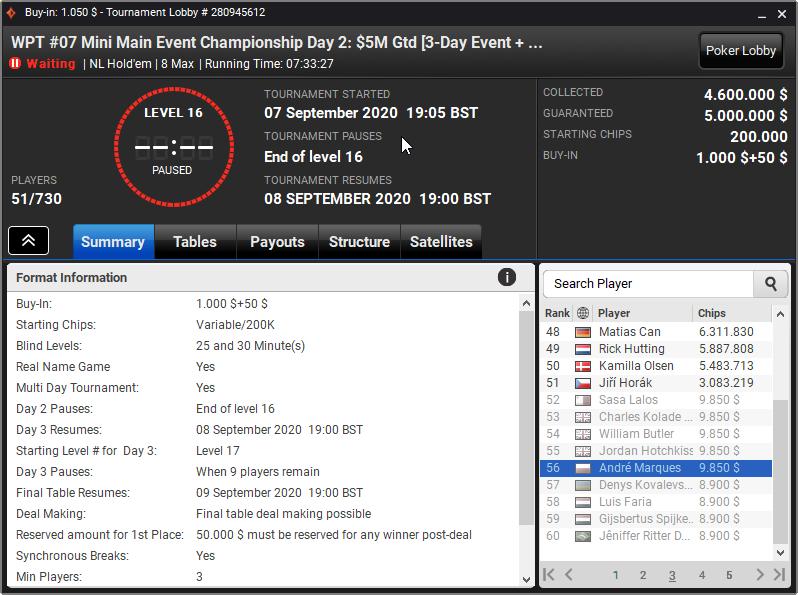 WPT Mini Main Event Championships