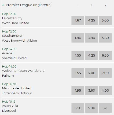 Calendário de Jogos da Premier League