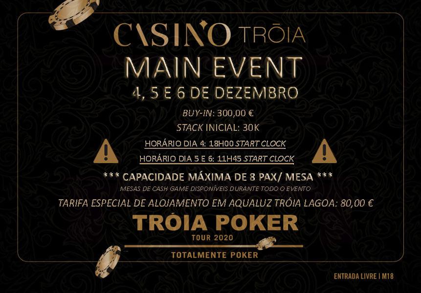 Info do Main Event do Tróia Poker Tour