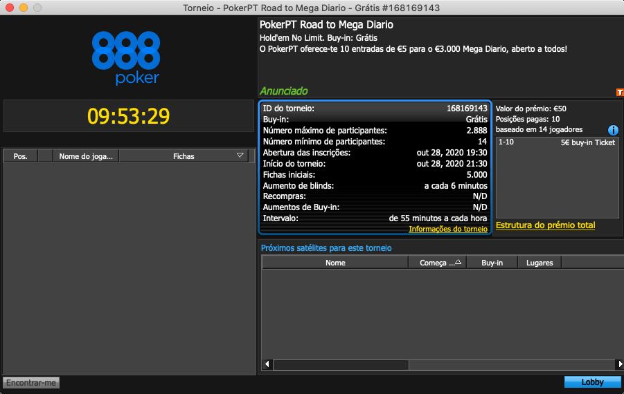 888poker freeroll road to mega diario pokerpt