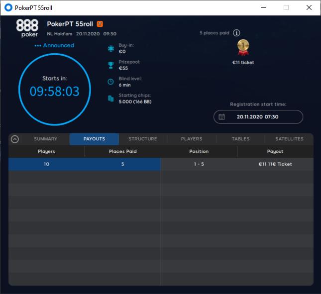 5º torneio PokerPT 55roll