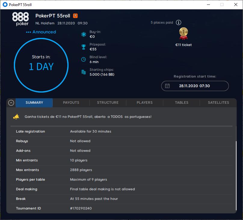 PokerPT 55roll 28Nov