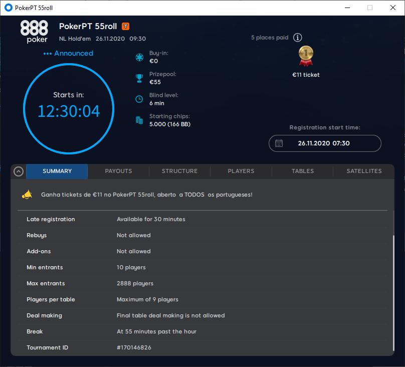 8º - PokerPT 55roll
