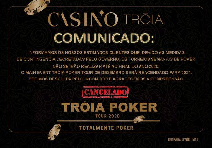 Casino Tróia cancela