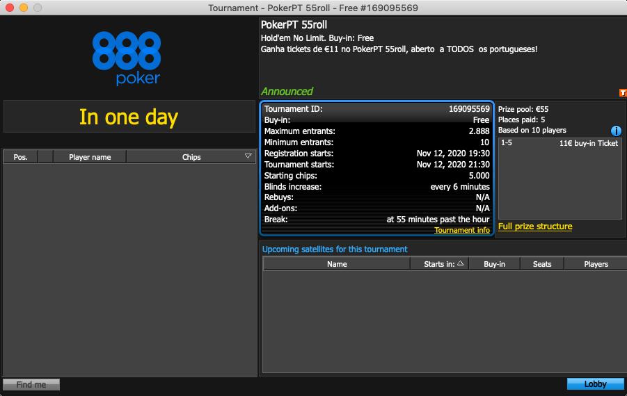 888poker freeroll pokerpt 55roll 1