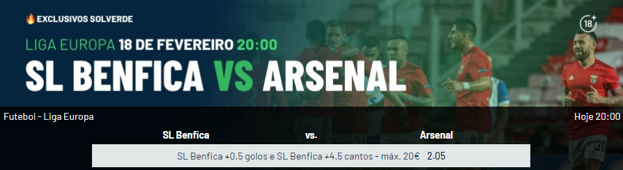 Benfica - Arsenal - Exclusivos Solverde
