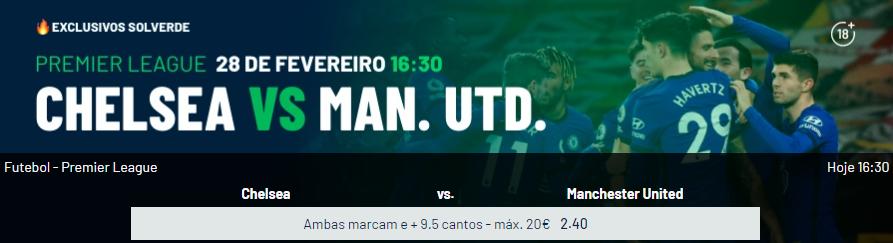Chelsea - Manchester United -Exclusivos Solverde