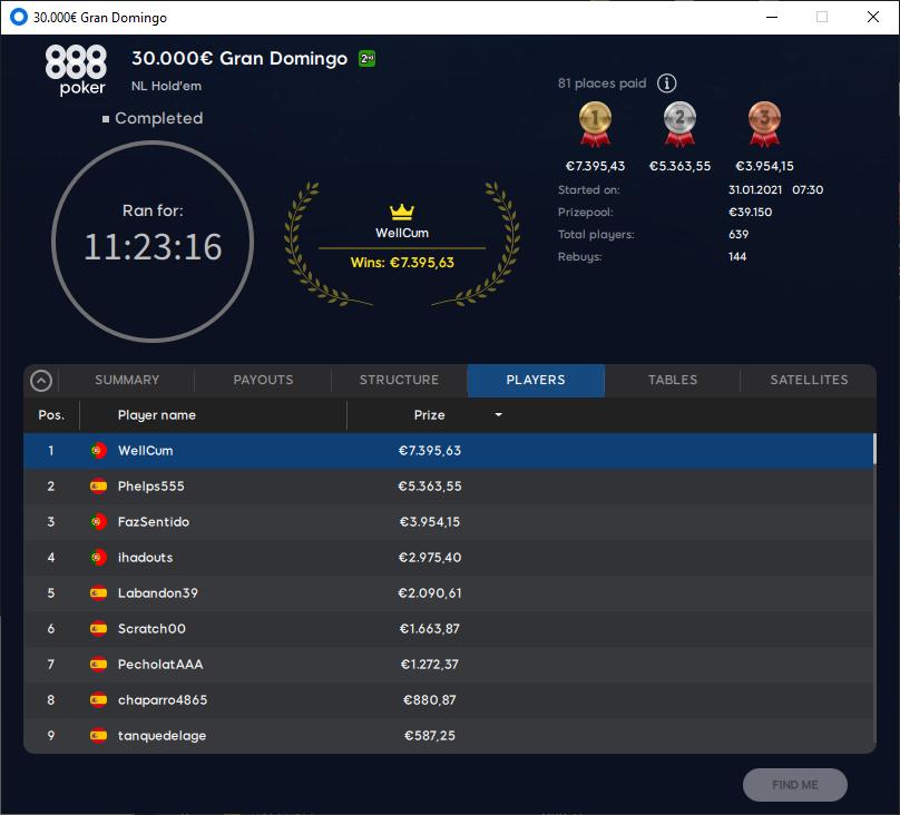 €30000 Gran Domingo