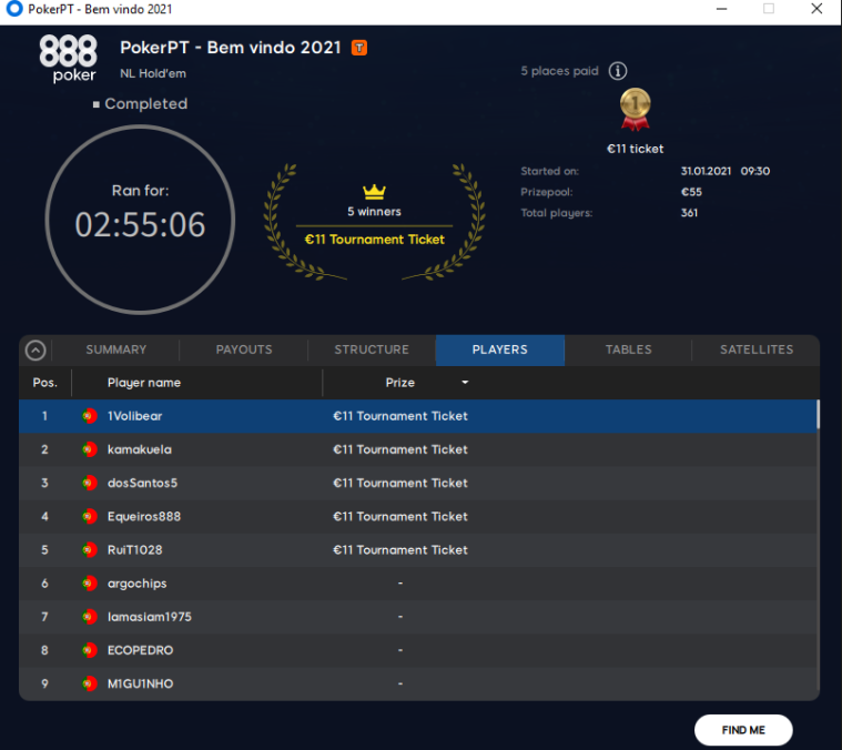 PokerPT - Bem Vindo 2021
