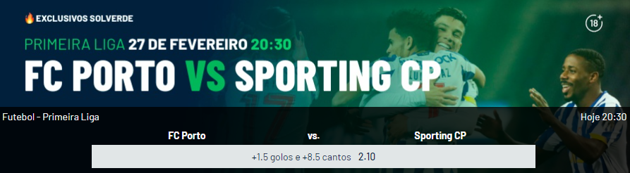 Porto - Sporting - Exclusivo Solverde