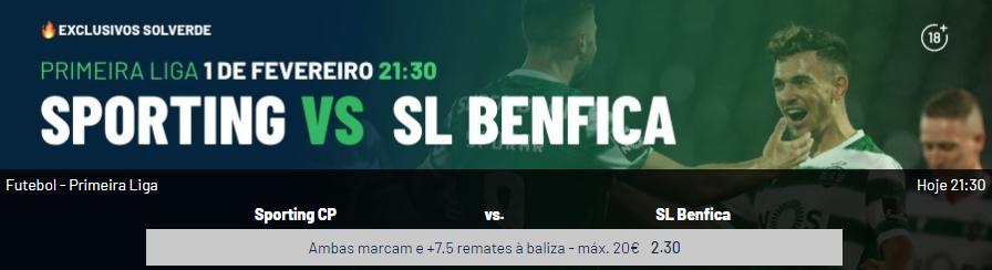 Sporting - Benfica - Exclusivo Solverde