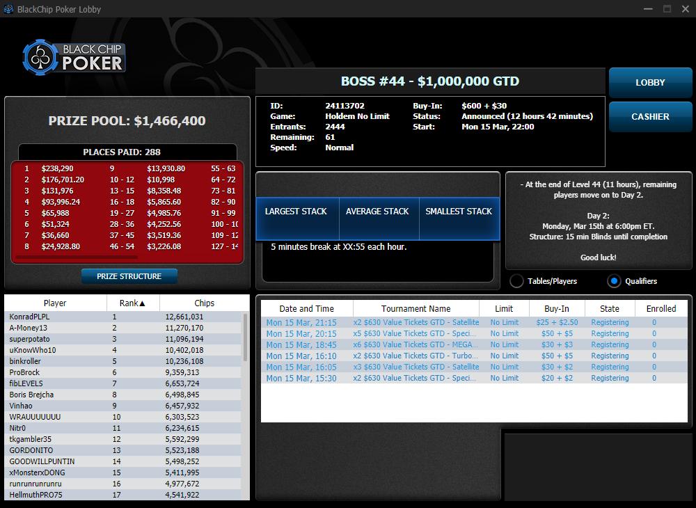 BOSS #44 - $1000000 GTD - WPN