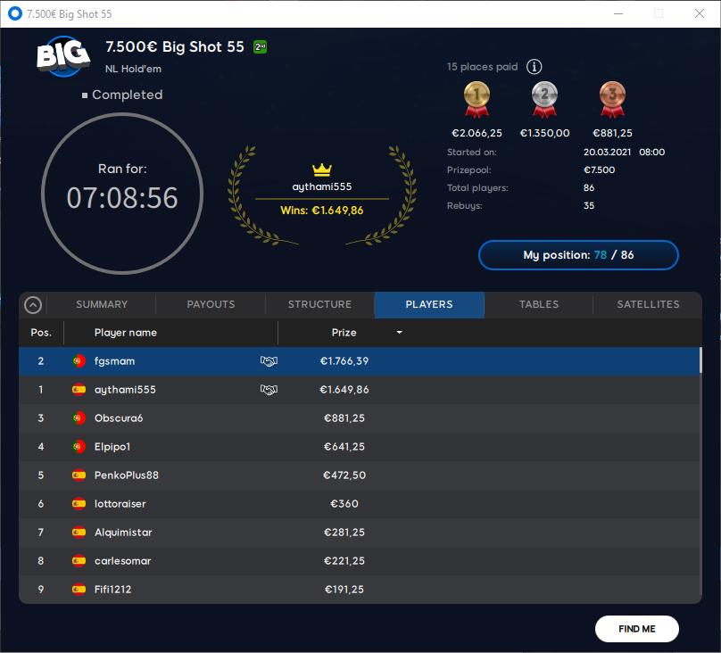 €7500 Big Shot 55