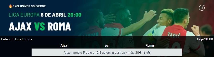 Ajax - Roma - Exclusivos Solverde