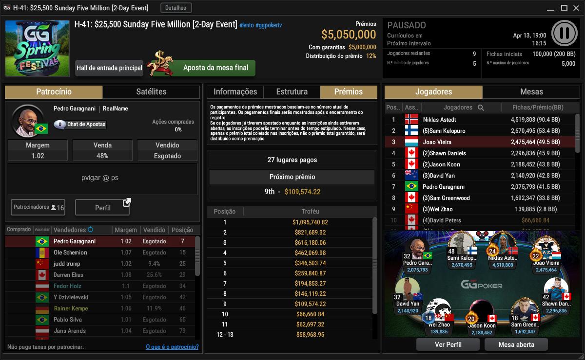 H-41 $25500 Sunday Five Million
