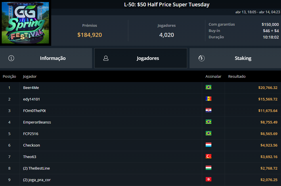 L-50 $50 Half Price Super Tuesday