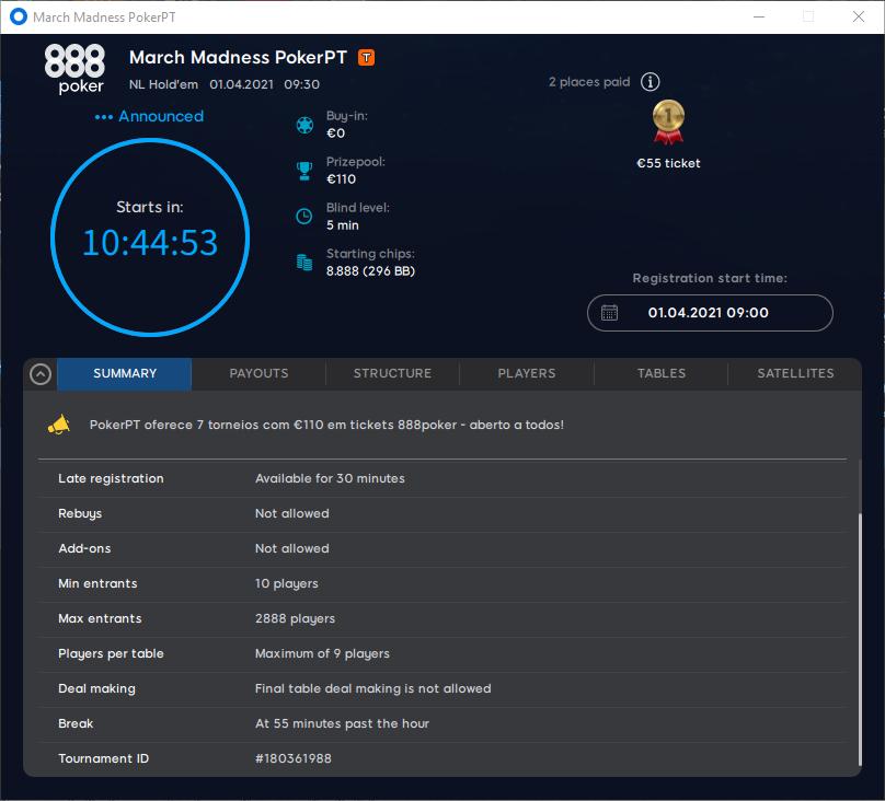 March Madness PokerPT #7