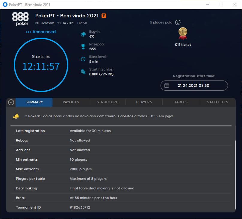 PokerPT - Bem vindo 2021 #48