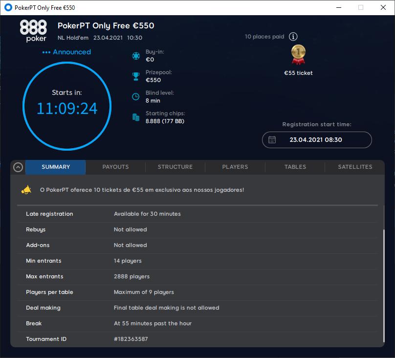 PokerPT Only Free €550 #2