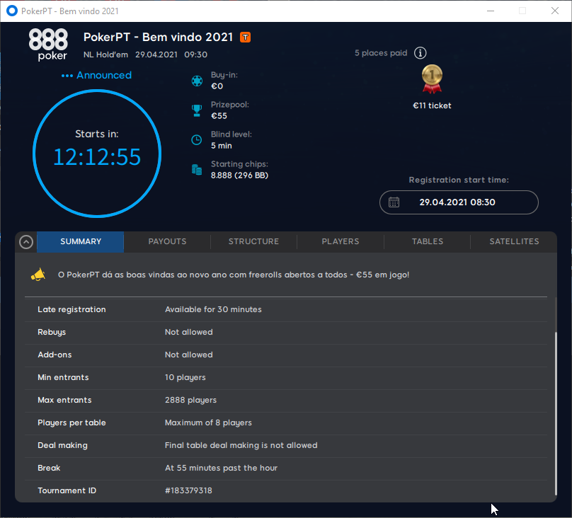 PokerPT - Bem vindo 2021 #52