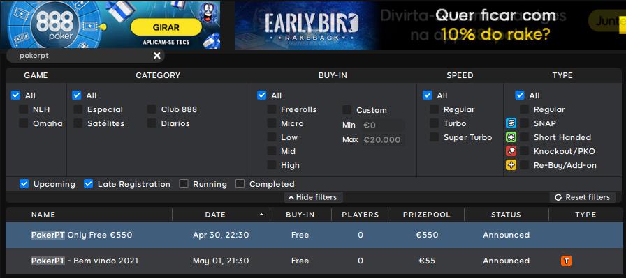 lobby 888poker - PokerPT Only Free 550
