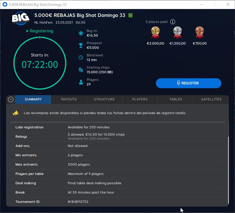 €5000 Rebajas Big Shot 33