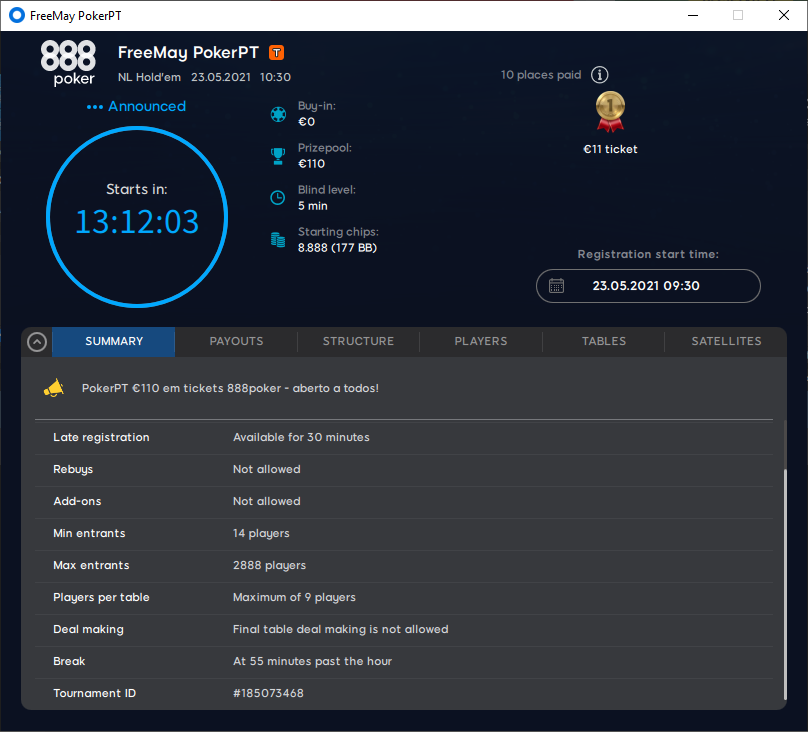 Freemay PokerPT #3