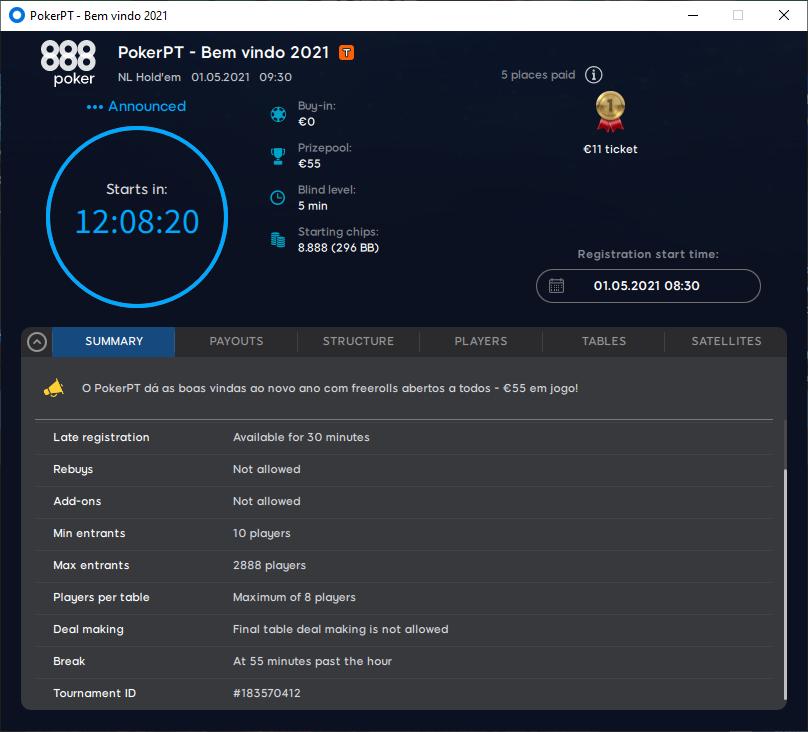 PokerPT - Bemvindo 2021 #53