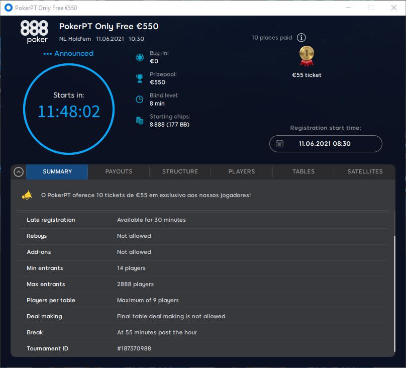 PokerPT Only Free 550 #6