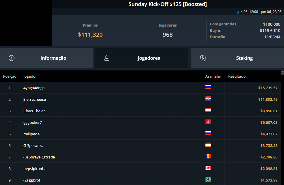 Sunday Kick-Off $125