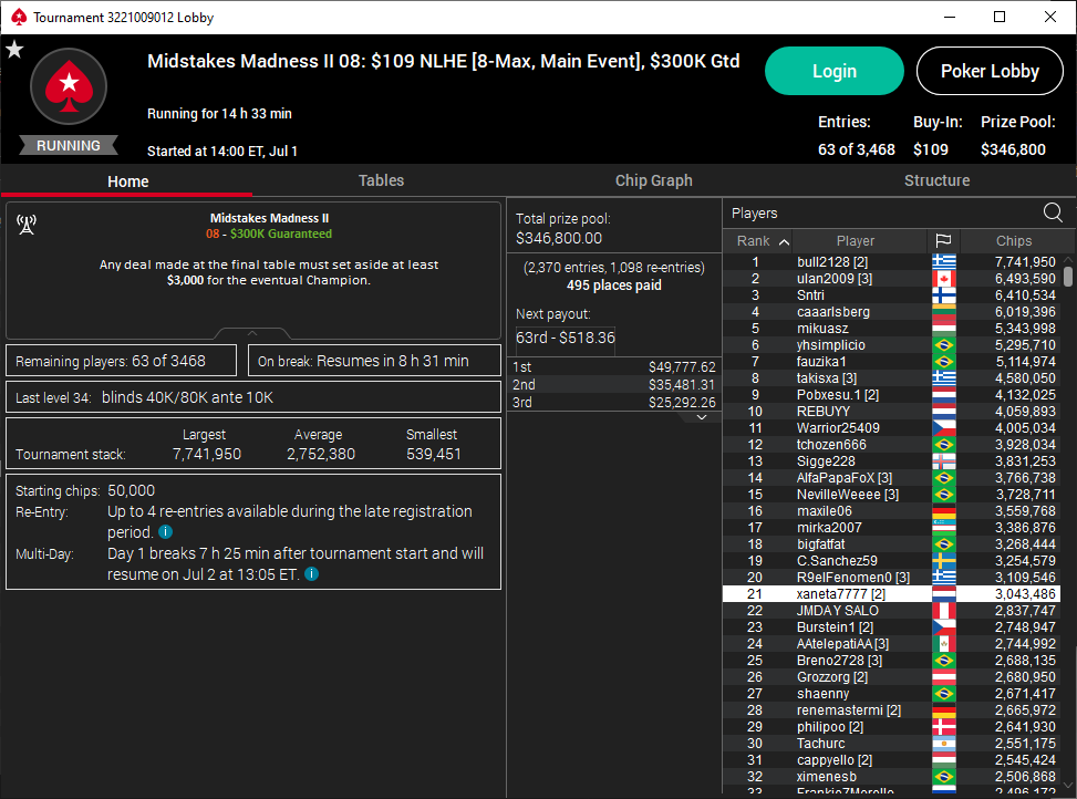 Midstakes Madness II #8