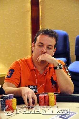 Alexandre Gomes no EPT Madrid. Fonte: pokerpt.com