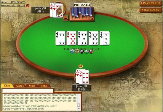 Programa de torneio de poker em portugues