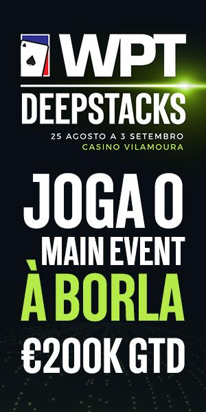 PokerPT Oferece Entrada no Main Event WPTDeepStacks Portugal  Ler mais: Poker PT: Comunidade de Poker Online em Portugal http://pokerpt.com/#ixzz4oPregvrj  PokerPT.com - Todos os direitos reservados  Under Creative Commons License: Attribution Non-Commercial