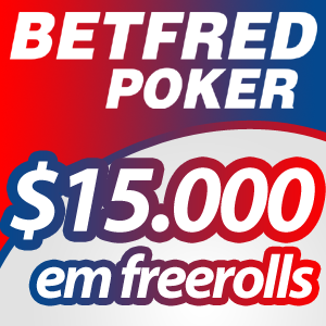 Freeroll de $1.000 hoje é na Betfred Poker
