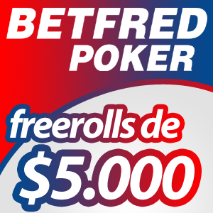 Freeroll Exclusivo de $2,000 na Betfred Poker