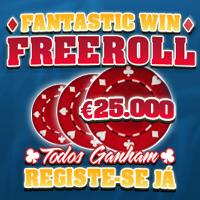 Freeroll de €25.000 na Fantastic Win - Ainda vais a tempo de jogar!