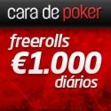 Cara de Poker oferece Freerolls diários de €1.000