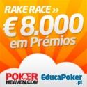 Rake Race de Natal da Poker Heaven - Miedomeda à frente