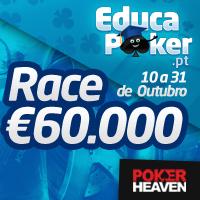 Poker Heaven oferece Rake Race de €60.000