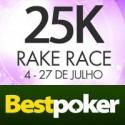 Está a chegar ao fim a Rake Race de $25,000