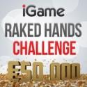 Raked Hands Challenge tem €50.000 em jogo até 31 de Janeiro
