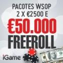 Joga 1.000 raked hands na iGame e podes ganhar um de dois Packs WSOP