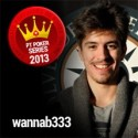 Fábio 'wannab333' Dâmaso lidera ranking PT Poker Series Player of The Year
